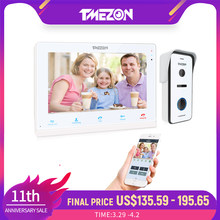 TMEZON 10 pulgadas Wifi inalámbrico inteligente timbre de Video de IP Intercom Sistema de Monitor de pantalla táctil con 720P con cable de la puerta teléfono Cámara Tuya.
