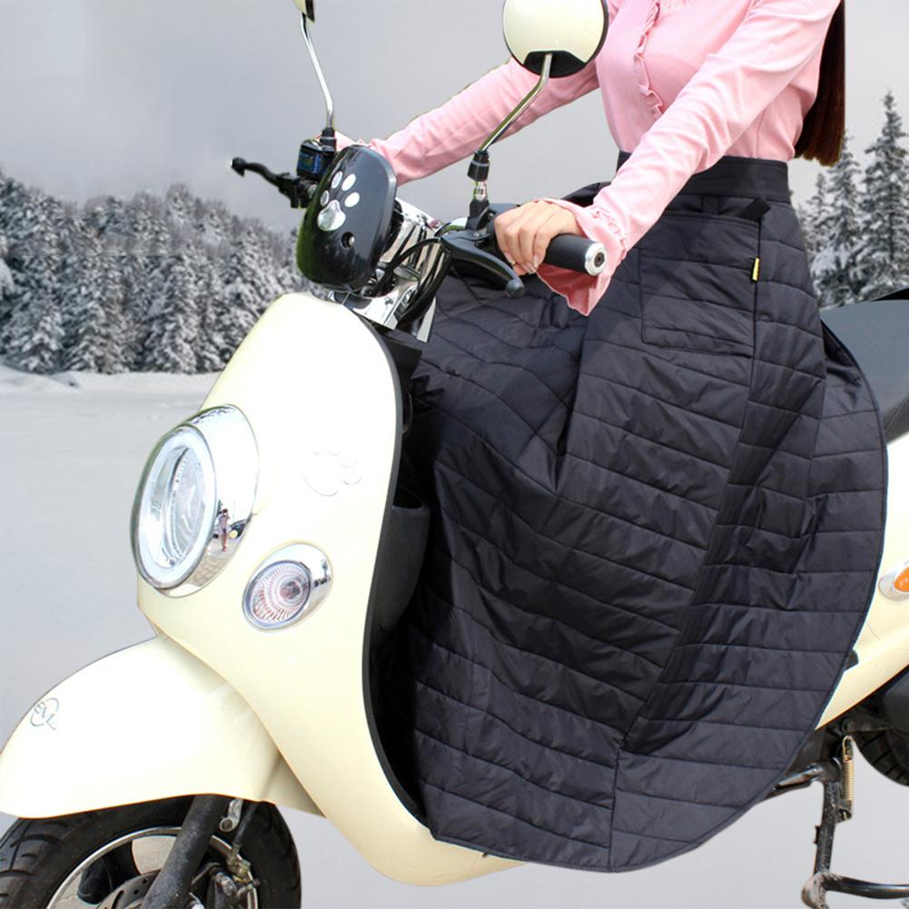 Waterproof Scooter Windshield Quilt Winter Riding Windproof Cotton Skirt Knee Waist Leg Cover Electric Motorcycle Cover