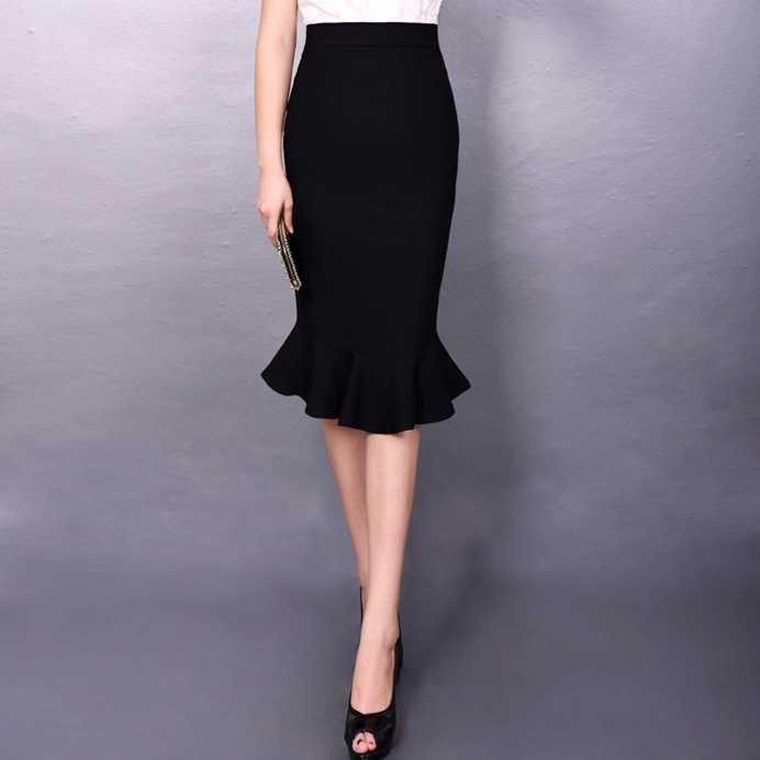 גבירותיי ארוך פורמליות חצאית XXL XXXL XXXXL XXXXXL בתוספת גודל אדום שחור בת ים חצאית משרד חצאית עיפרון