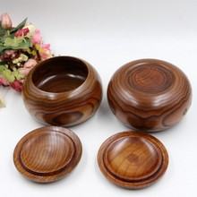 Go game – bol en bois yunzi, boîte d'échecs en bambou
