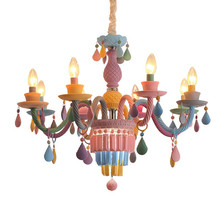 New macarons crystal pendant lamp dining room living room girl bedroom princess room lights