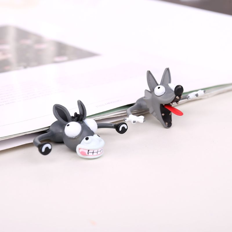3D Stereo Cartoon Lovely Animal Bookmark Cute Cat Rabbit Funny Student Kids Gift Hot Selling