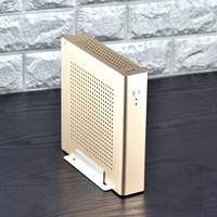 New PC Gamer Case Computer Safe Cabinet Full Tower Mini Thin ITX Desktop Gaming Empty Chassis USB Aluminum Alloy Free shipping