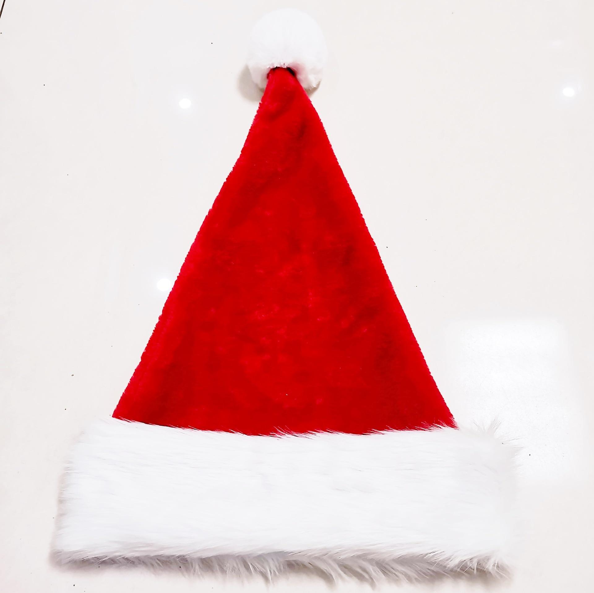 Santa Hat Adult plush Santa Hat