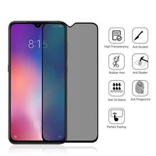 9D Full Cover Privacy Tempered Glass for Xiaomi CC 9 Anti Spy Screen Protector For Xiaomi CC9 Anti Peeping Protective Film(China)