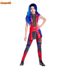 Movie Audrey Costumes Kids Halloween for Fancy Party Dress Costume Girls Mal Cosplay Anime Clothes