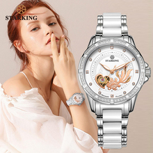 STARKING Mechanical Watch Women Automatic Skeleton Fashion L