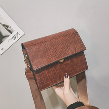 Crocodile pattern Shoulder Messenger Bag Women's Designer Luxury Handbag 2019 Fashion New High quality PU Leather Women Handbags