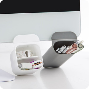 Image 1 - SIXONE 간단한 스타일 붙여 넣기 유형 데스크탑 디스플레이 포켓 Penholder 독창성 사무실 펜 잡다한 상자 컴퓨터 펜 컨테이너