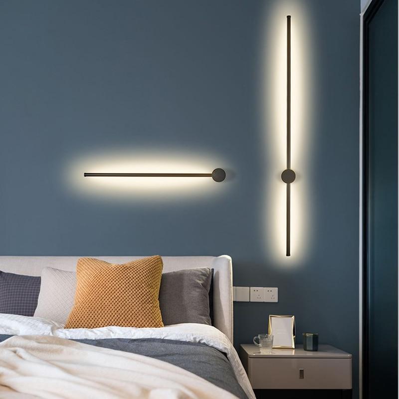 Gold/Black modern LED Wall lamp mirror light surface mount For living room restaurant bedroom wall lamp L600mm~1400mm