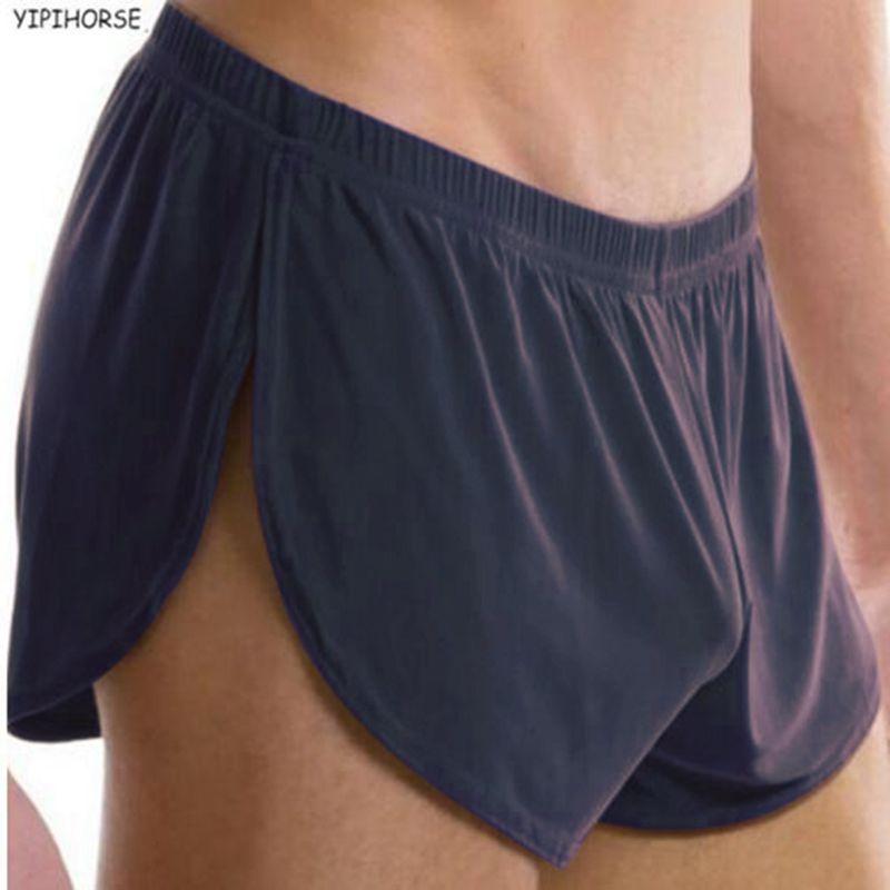 New Hot Sale Best Men Male Underwear Comfortable Sexy Man Boxer Shorts U Convex Pouch Silk Sexy Body XXL Size Gay Underwear