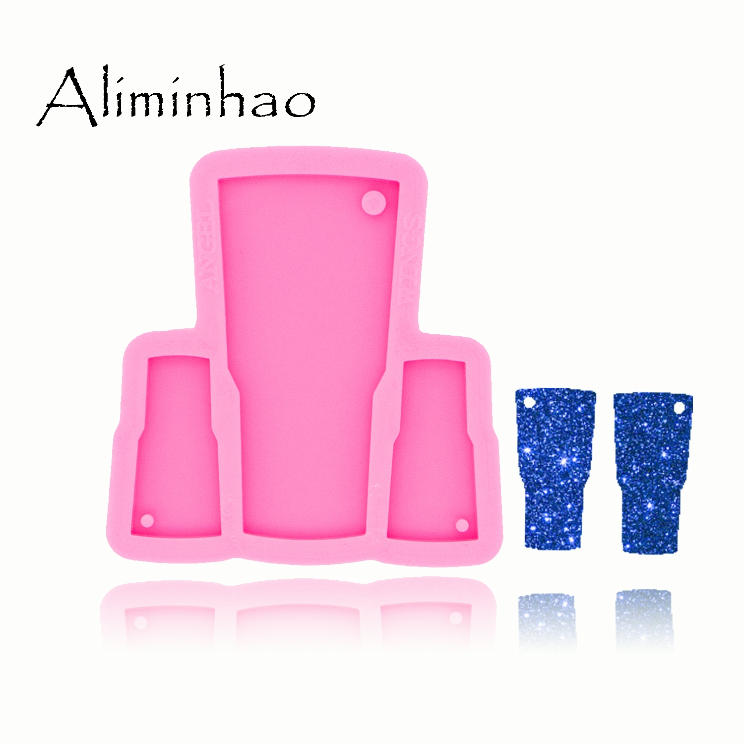 DY0457 Shiny Tumbler Mold Earrings And Necklace Handmade DIY Epoxy Silicone Molds Fashion Jewelry Resin Craft Mould