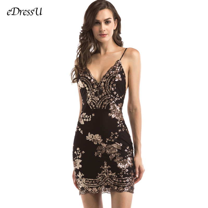 Sexy Cocktail Party Kleid Robe de Soiree Pailletten Backless Vestido de Fiesta V-ausschnitt Party Kleid Elegante Prom Kleid YMK-988