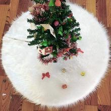 72 см белая плюшевая Рождественская елка юбка фартуки ковер для рождественской елки рождественские украшения для дома Новогоднее Рождественское украшение