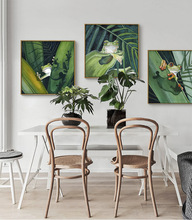 Tropical Green Plants Frog Summer Cute Animals Lively Sofa Background Wall Study Art Picture Canvas Posters for Home Decoration  - buy with discount