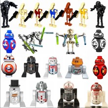 Starplan Perang Legoing Robot Blok R2D2 BB8 General Grievous Film Heavy-Duty Pertempuran Droid Mainan Anak-anak Legoings Bintang Rencana angka(China)