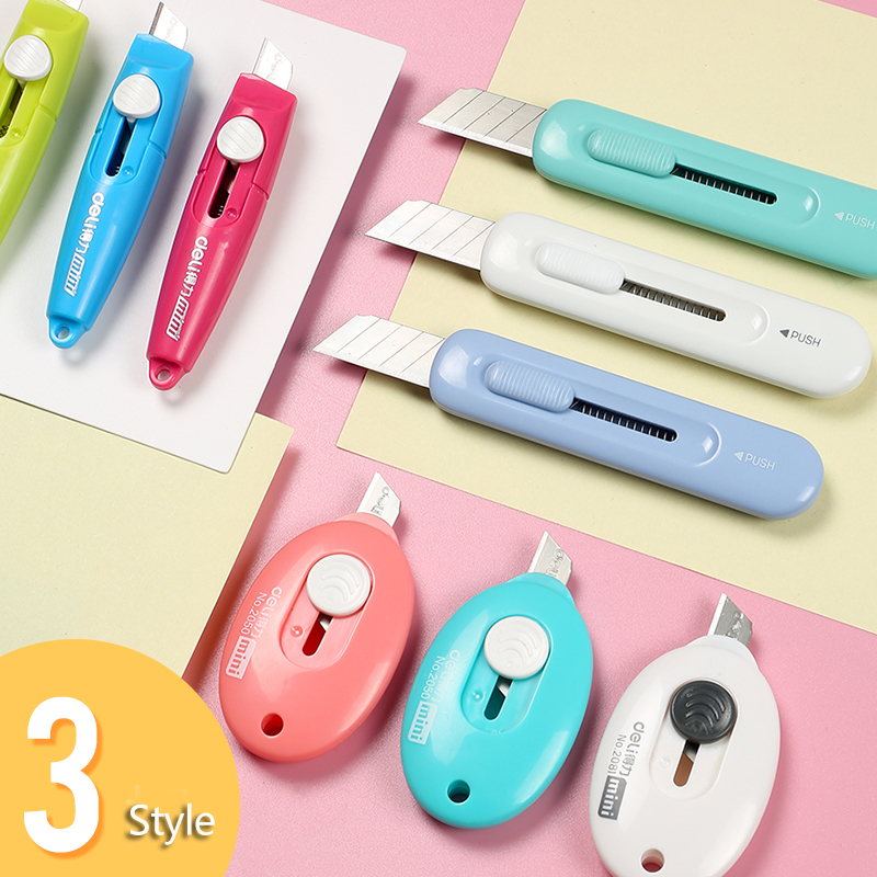 1pc Cute Cartoon Mini Utility Knife Small Paper Cutter File Knife Office Supplies Cutting Tool