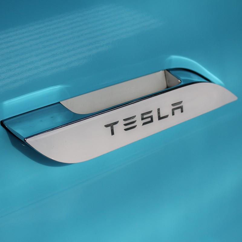 For Tesla Model S  3D Car Door Handle Wrap Set Colored Protector Stickers Door Handle PU Decal for Tesla Styling Accessories