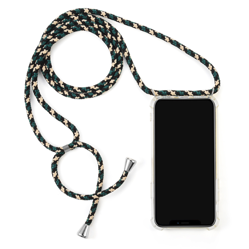 Image 2 - Crossbody Necklace Phone Case With Colorful Strap Cord Clear Shockproof Phone Case Cover Rope For Huawei P10 P20 P30 Pro Mate10