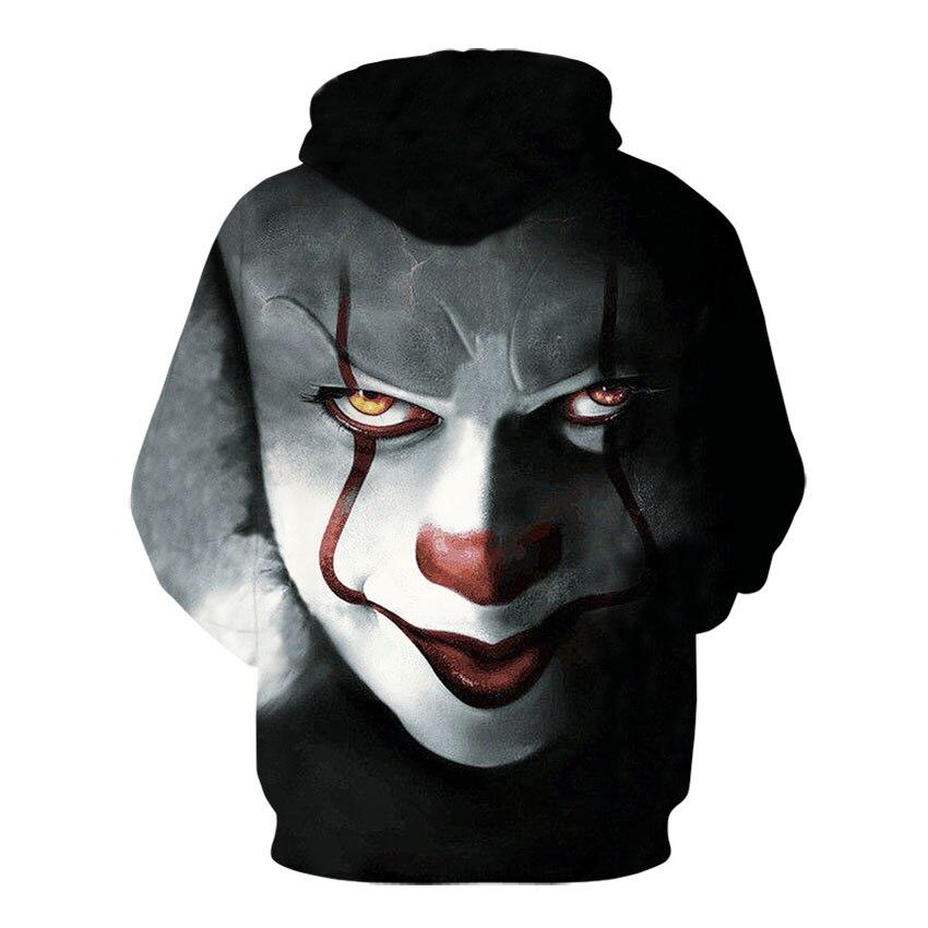 Stephen King/'s 2018 Movie It Pennywise 3D Hoodie sweater Sweatshirt Cosplay Coat