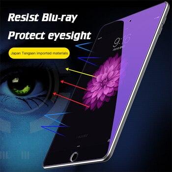 Dla ipad 11 Pro 9.7 10.2 12.9 Full Cover Anti-blue Light szkło hartowane dla ipad 2018 5 6 Air 1 2 3 Screen Protector pokrowiec na tableta