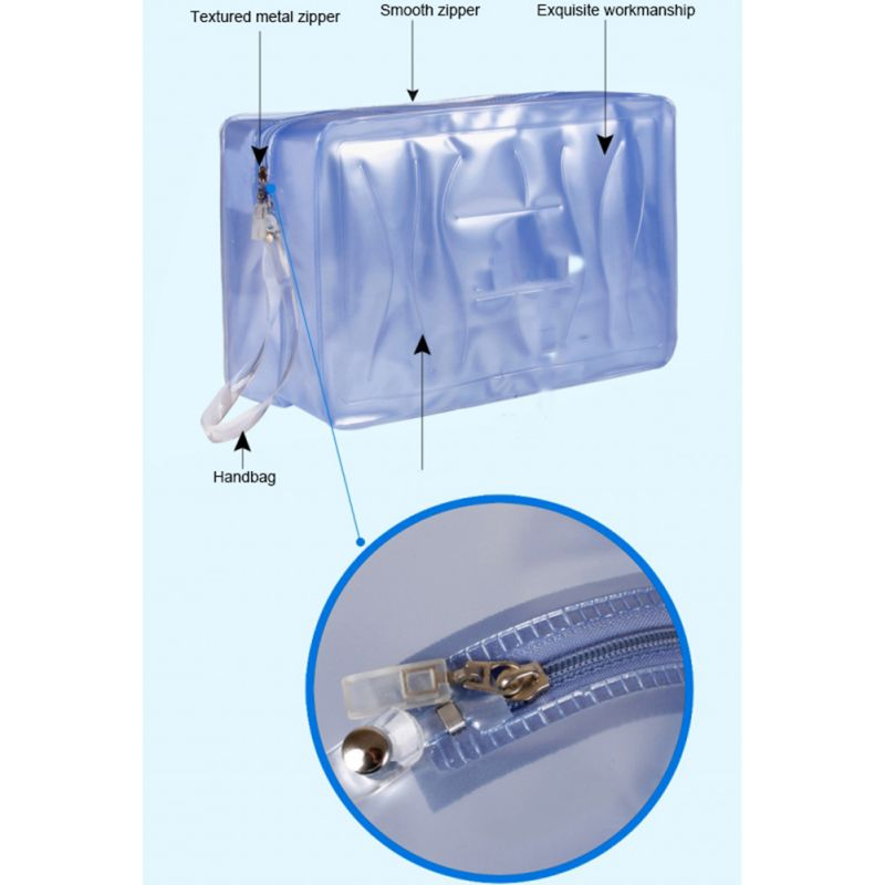 New Handbag Swimming Storage Bag Large Capacity Waterproof Zipper PVC Swimsuit Handbag Beach Organizer Camping Fishing Climbing