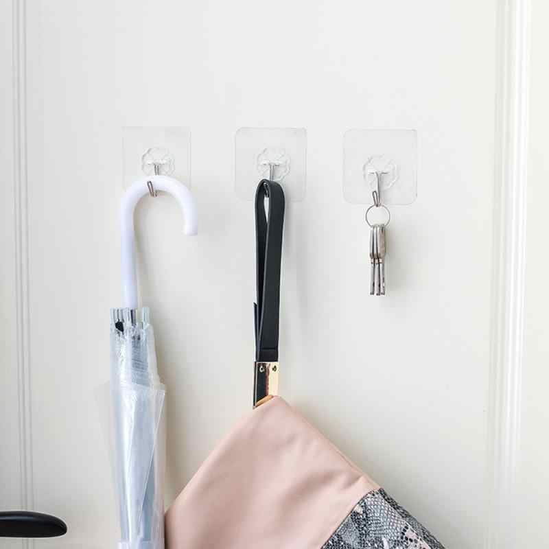 Yüksek kaliteli kanca şeffaf yapışkanlı kancalar ağır duvar kanca su geçirmez duvar yapışkan askı mutfak banyo için günlük yaşam