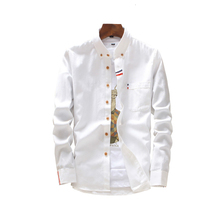 Oxford Cotton Spinning Shirt Man Large Size Men Business Casual Long Sleeved Male Social Dress Plus white tops