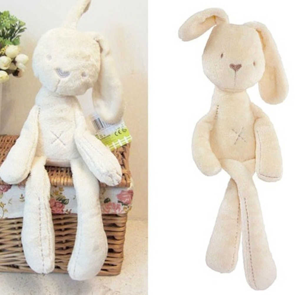 Soft Bunny Rabbit Plush Toy Sleeping Comfort Doll Plush Toys Bunny Smooth Obedient Rabbit Sleep Calm Stuffed Doll Mate #50