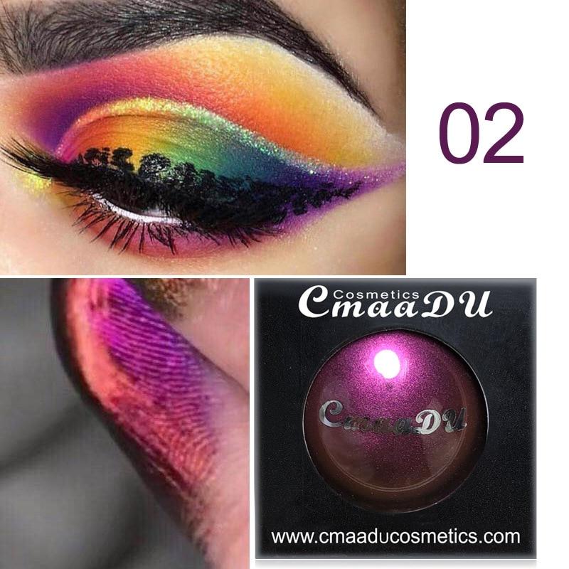 Camaleão sombra brilho pigmento paleta de longa duração à prova dshimágua shimmer diamante metálico fosco compõem maquillajes tslm1