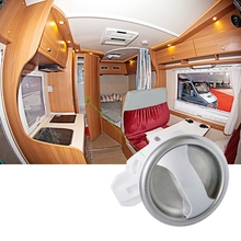 Motorhome Safety Door Lock Caravan Wardrobe Lock Toilet Bathroom Handle Pull Knot Rotating Lock