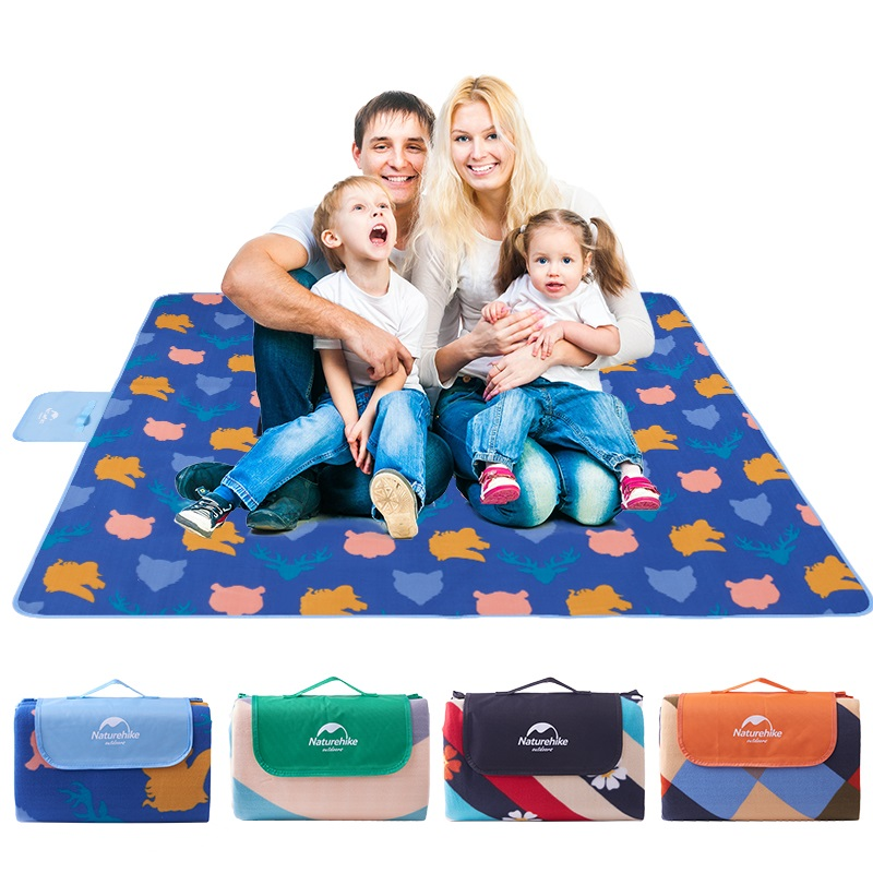 Naturehike Lightweight Extra Large Waterproof Sand Proof Outdoor Camping Picnic Rug Folding Sand Free Plaid Beach Mat Blanket