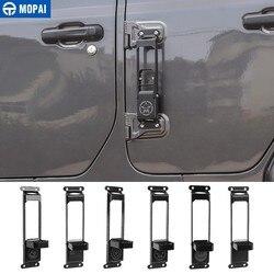 Samochód MOPAI drzwi kroki wspinaczka dla Jeep Gladiator JT 2018 + samochód zawiasa drzwiowa samochodowa podpórka pod nogę Peg dla Jeep Wrangler JK JL 2007-2020
