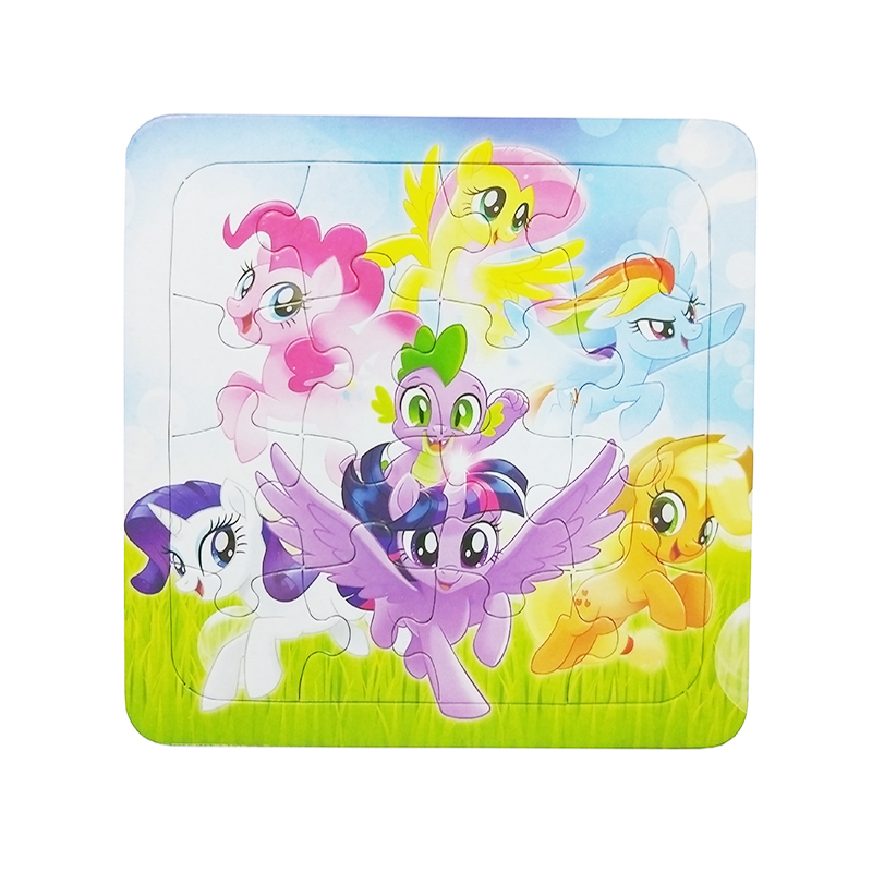 Little Pony Series Puzzles Animal Cartoon Educational Toy For Children Digital Paper Puzzle Game Kid Toys Free Shipping