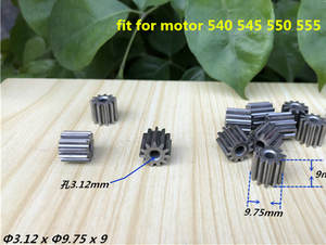 11T high quality  3.12x9.75x9mm metallurgy gear fit for 540 545 550 555 motor