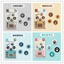Gratis Verzending Kat Poot Duimgrepen Joystick Analoge Caps Voor Nintend Schakelaar Lite & Ns Nintend Schakelaar Joycon Zwart, blauw, Roze Kleur