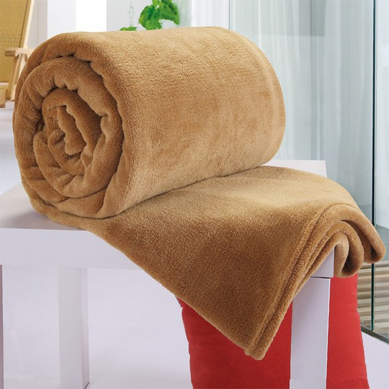 Soft Warm Coral Fleece Blanket Winter Sheet Bedspread Sofa Throw 230Gsm 8 Size Light Thin Mechanical Wash Flannel Blankets