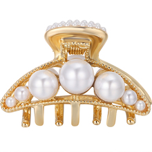 CHIMERA Pearl Hair Claw Jaw Clips for Women Ladies Elegant Metal Alloy Barrettes Crab Clamp Trandy Korean Jewelry Accessories