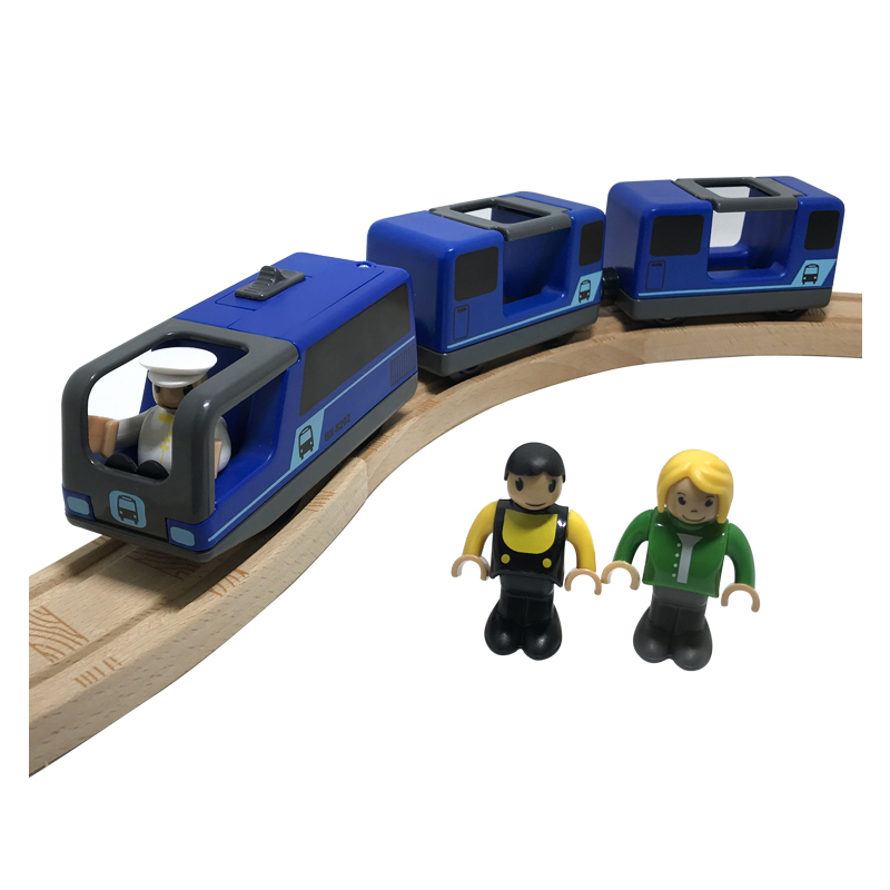 Toys For Boys Blue Electric Train Set Compatible With BRIO Train Rail Set Children's Track Toy W112