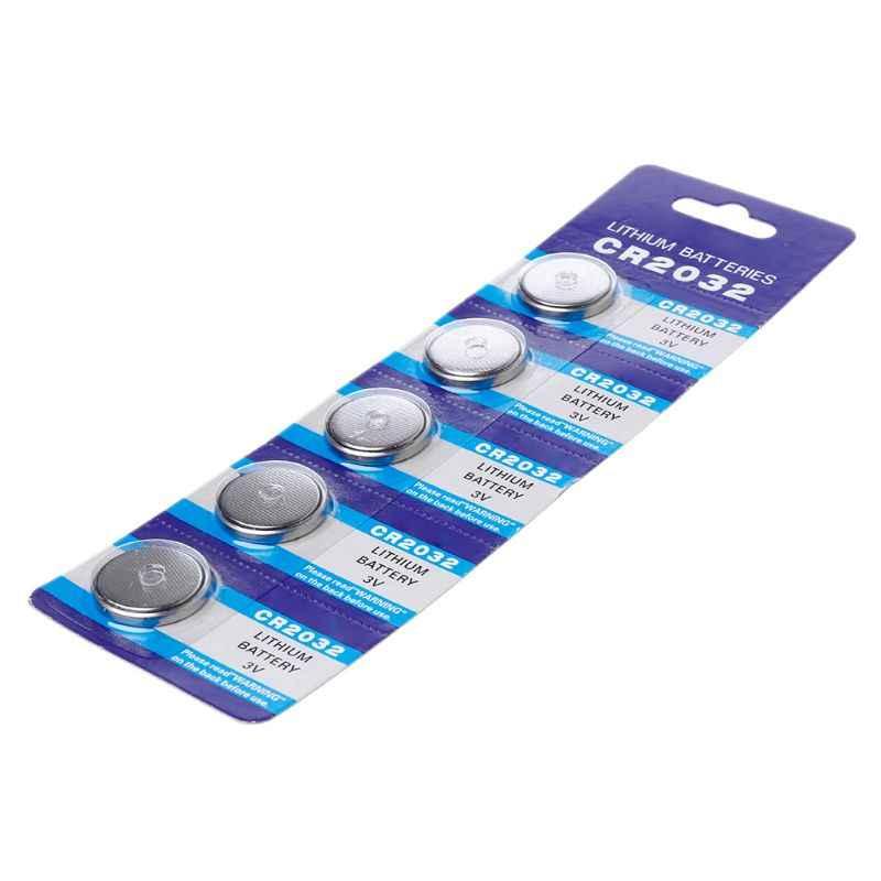 5 uds 5 uds pila de botón 3V CR2032 BR2032 DL2032 ECR2032 pilas de litio Li-ion promoción reloj ordenador Luz LED
