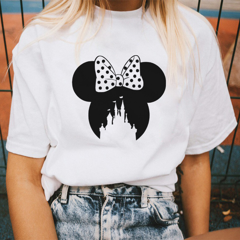 T-shirt Women 2020 New Leopard Mouse Head Vogue Print T Shirt Harajuku Casual Summer Vintage Funny Aesthetic Tops Hipster Tshirt