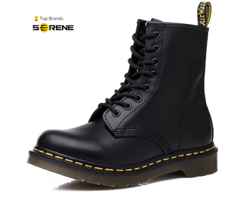 SERENE TOP Brand Men PU Leather Boot Men's Desert Military Shoes Safety  Ankle Motocycle Boots Casual Footwear Couple boots