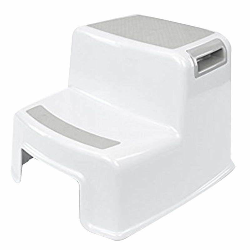 Dual Height 2 Step Stool For Kids Toddler's Stool For Potty Training And Use In The Bathroom Or Kitchen Wide Two-Step Design For