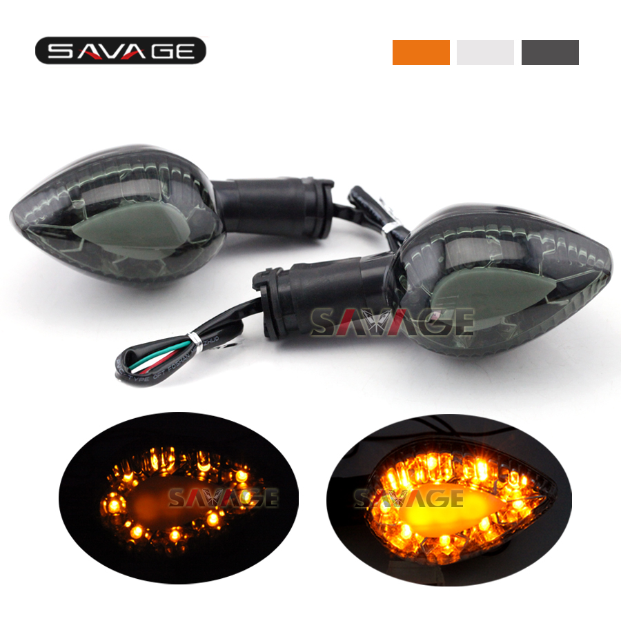 For YAMAHA WR250X WR250R YBR125 YBR250 FZ16 V-MAX 1700 Front/Rear LED Turn Signal Indicator Light Motorcycle Blinker Lamp