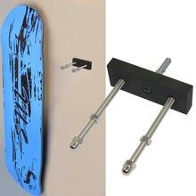 Cabide de skate longboard com exibição flutuante, cabide de parede com armazenamento de skate e patinetes