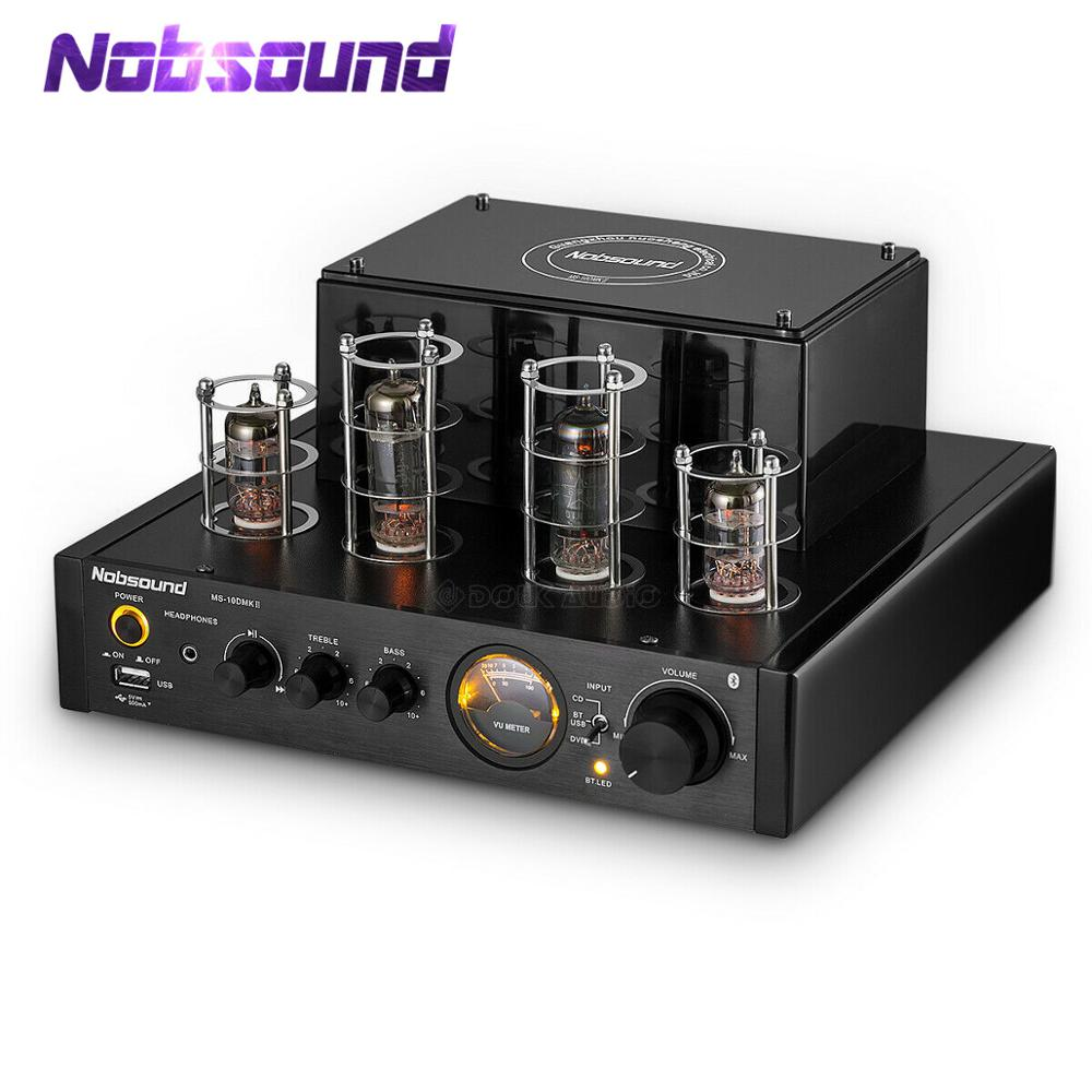 Nobsound HiFi Bluetooth Valve Tube Amplifier Amp Hybrid Power Amp Headphone Amplifier Home Theater Stereo USB Music Player