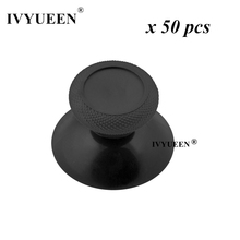 IVYUEEN 50 Pcs Replacement Joysticks Thumbstick Analogue Sticks for Xbox One X S Wireless / Wired Controller Thumb Grips Cap