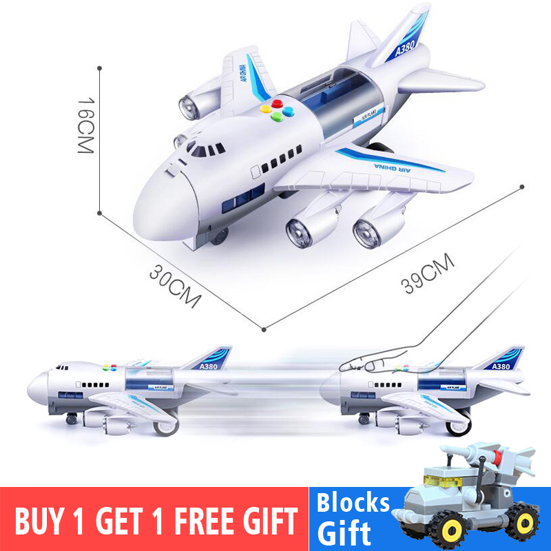 Image 2 - Kids Toys Simulation Track Inertia Airplane Music Stroy Light Plane Diecasts & Toy Vehicles Passenger Plane Toy Car Boys ToysDiecasts & Toy Vehicles   -