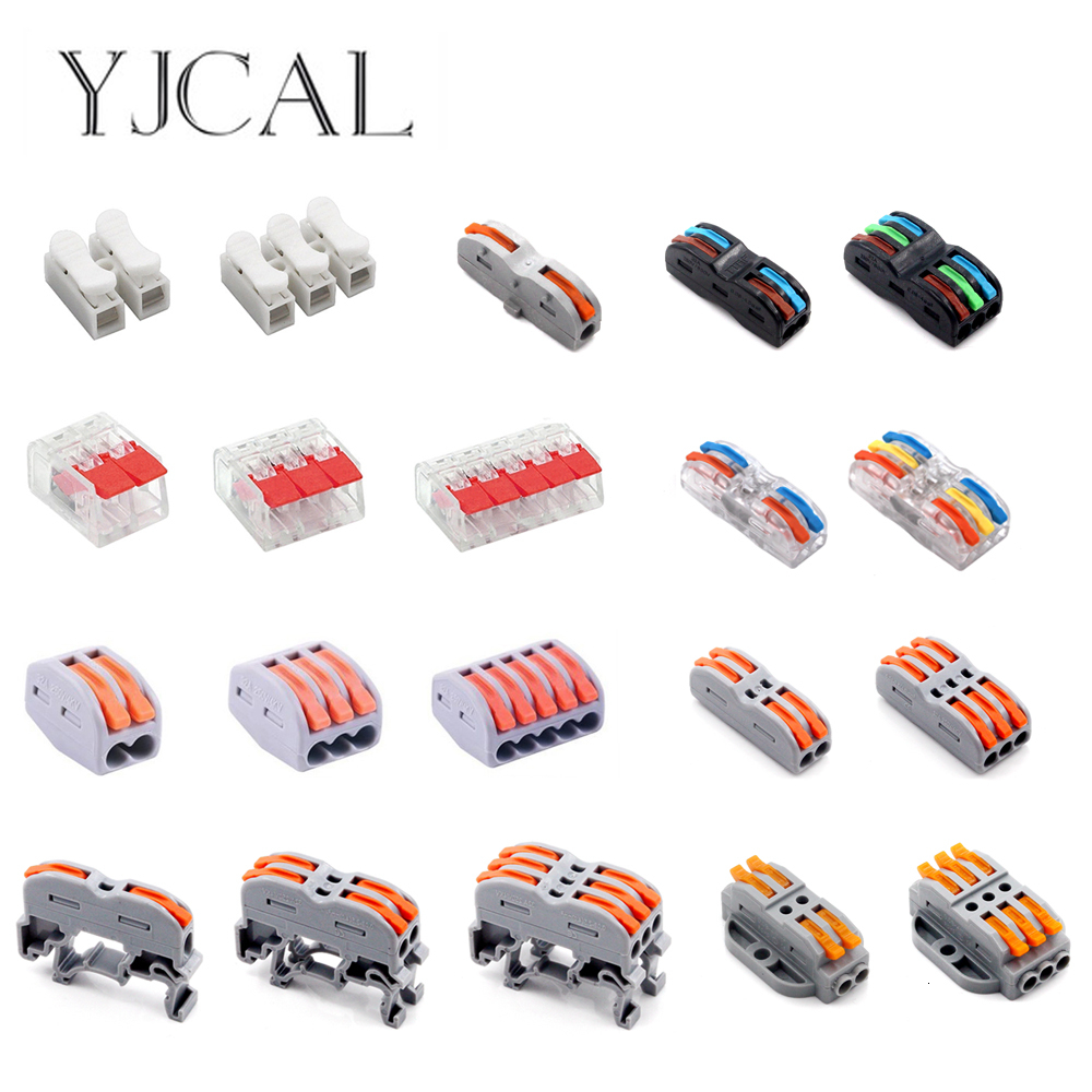 1-10Pcs Wire Connector Terminal Electrico Block Compact Wiring Splicing Conector Eletrico Universal Electrician Tool Set China
