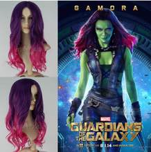 Verzending Galaxy Guard card magic pull Gamora plus Merah cosplay anime pruik(China)
